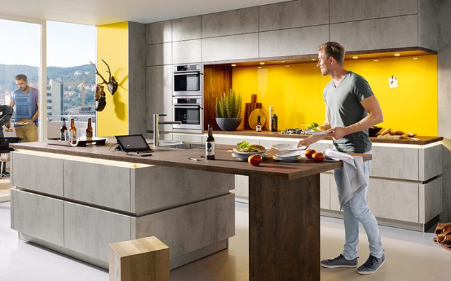 Schüller Elba Concrete Effect Kitchens - Handleless Design Cardiff schuller