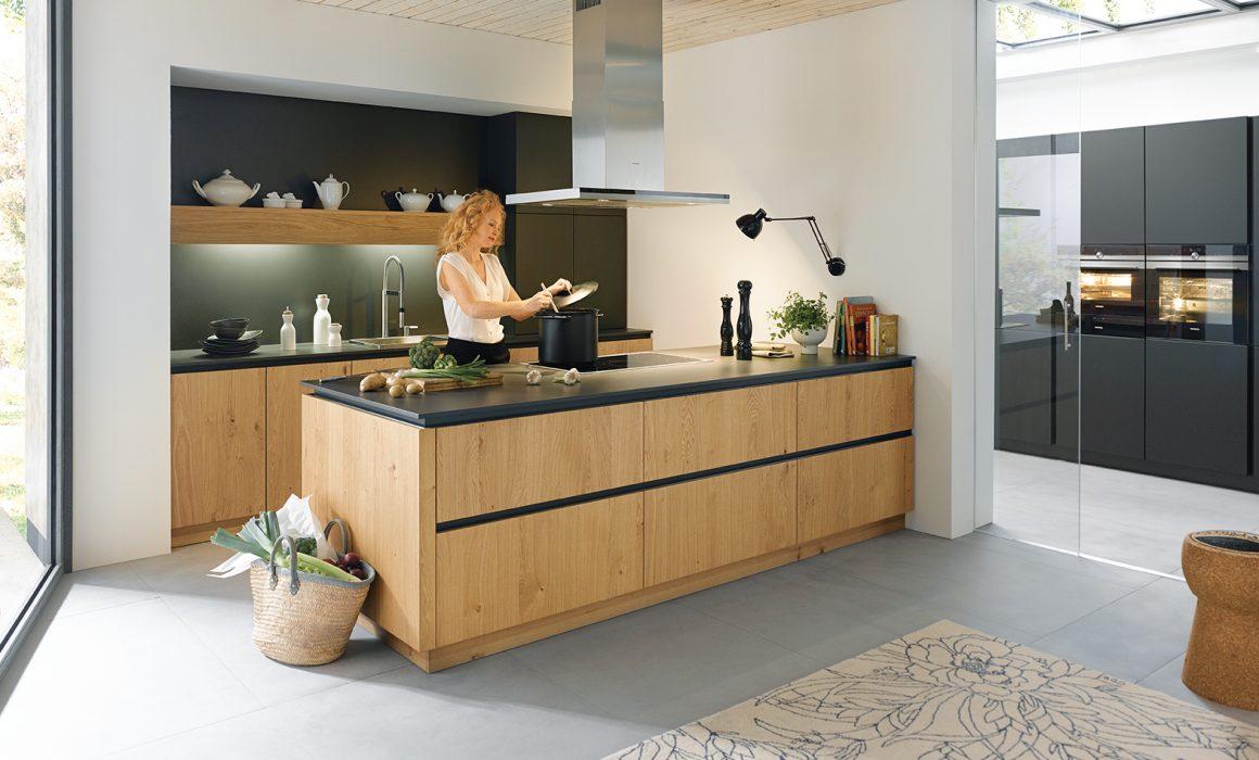 rocca schuller woodgrain kitchens cardiff