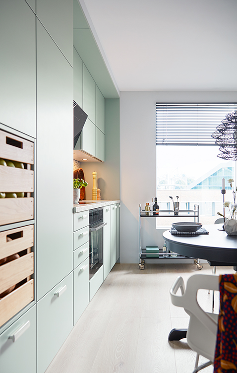 german kitchens cardiff biella pastel green 1