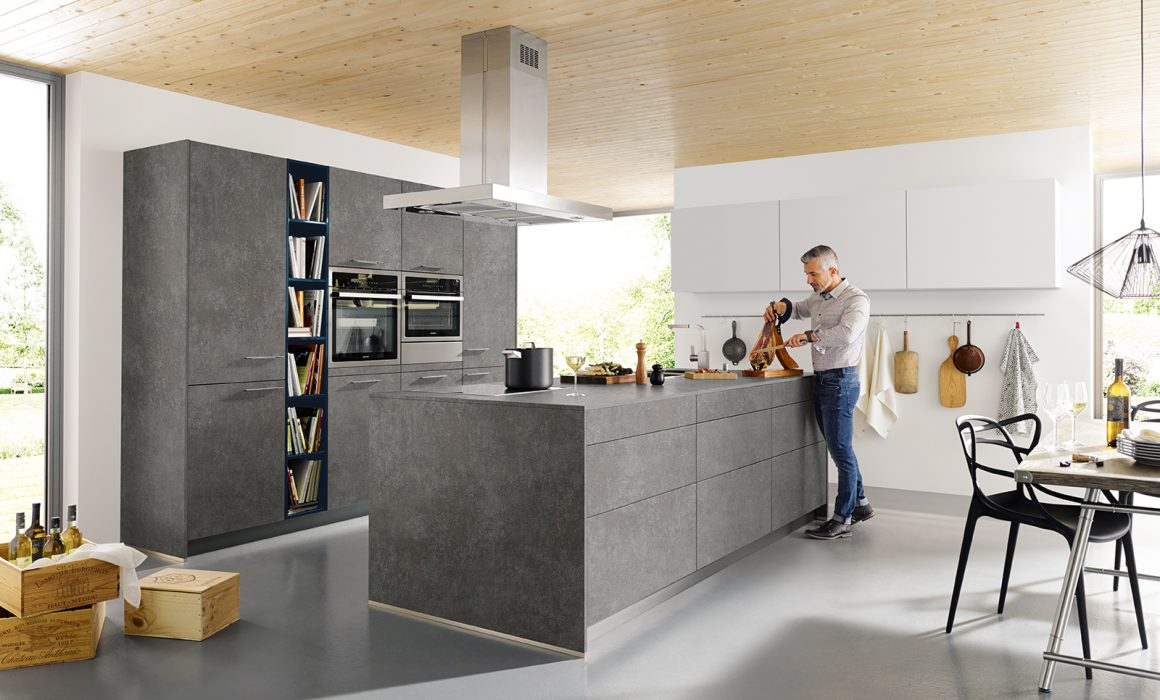 elba concrete kitchen schuller kitchens cardiff
