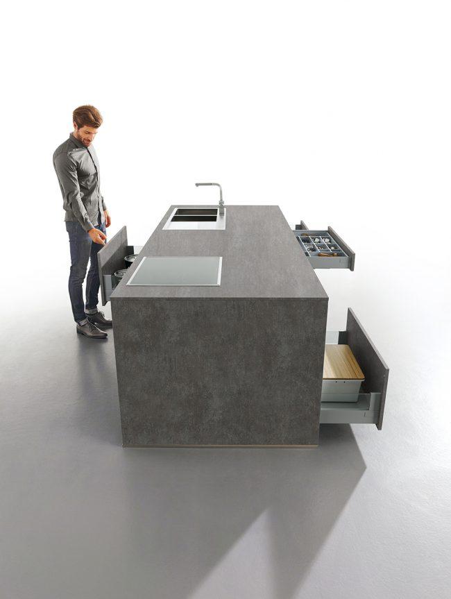 elba concrete kitchen schuller grey kitchens cardiff