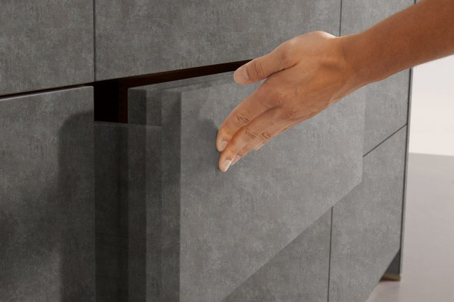 Schuller elba concrete kitchens cardiff grey kitchen