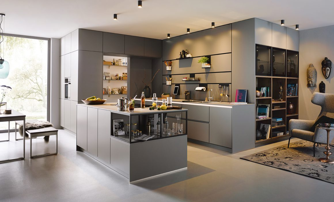 Schüller Sienna Satin Kitchen cardiff - Handleless Design