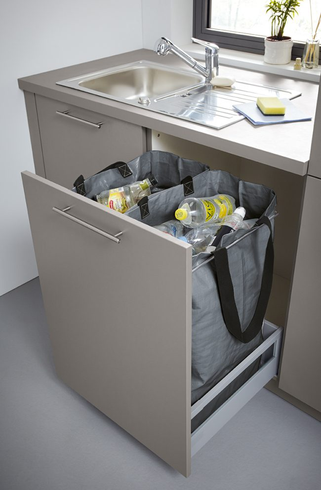 recycling bin by schuller german kitchens cardiff