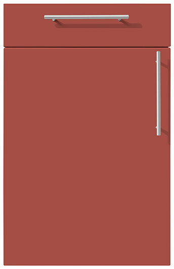 siena german kitchens cardiff terracotta red
