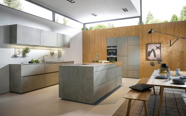 luxury kitchens wales - handless ceramic kitchen