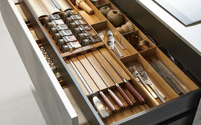 Luxury Kitchens Wales - Drawer Storage