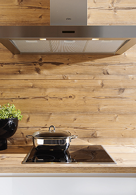 Wood Laminate Wall Panelling - Schuller Kitchens Cardiff