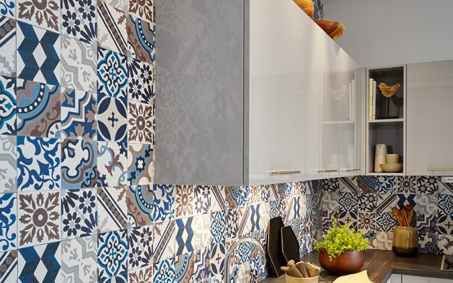 Patterned Laminate Wall Panelling - Schuller Kitchens Cardiff