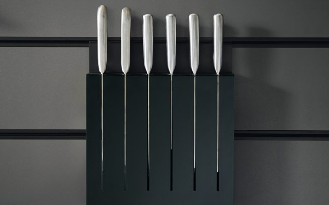 Onyx Black Knife Rack - Schuller Kitchens Cardiff - Schuller Kitchens Cardiff