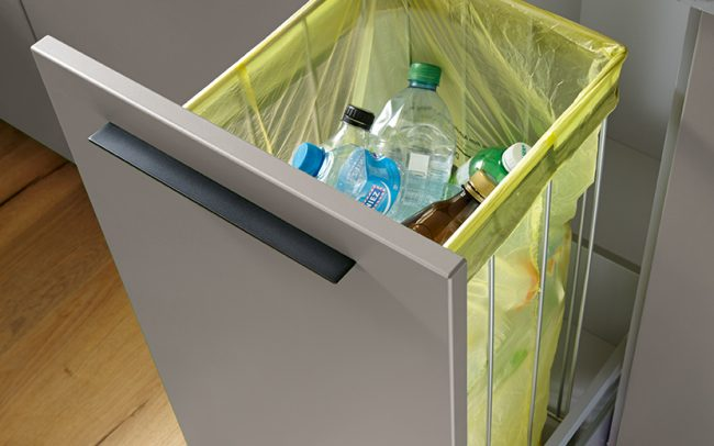 german kitchens cardiff - utility rooms - pull out bin