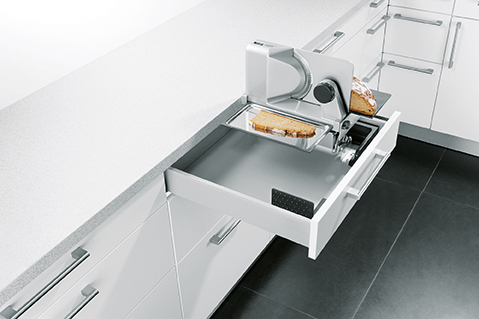 Schuller German Kitchens Cardiff - Integrated Multi Purpose Slicer for Drawer