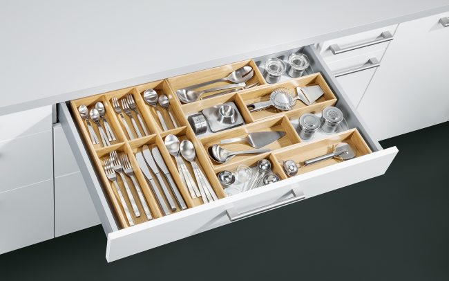 Schuller German Kitchens Cardiff - Flexbox Cutlery Insert - Natural Oak