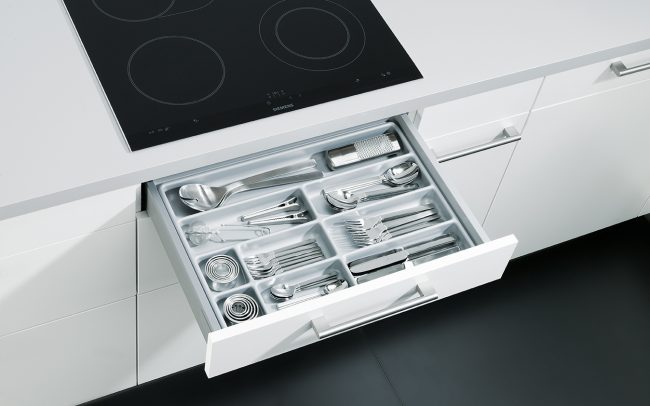 Schuller German Kitchens Cardiff - Insert for Cutlery - Laminate Silver