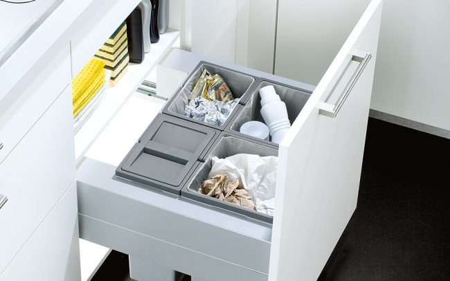 Schuller German Kitchens - Storage Solutions - Pull Out Storage - pull out bin unit