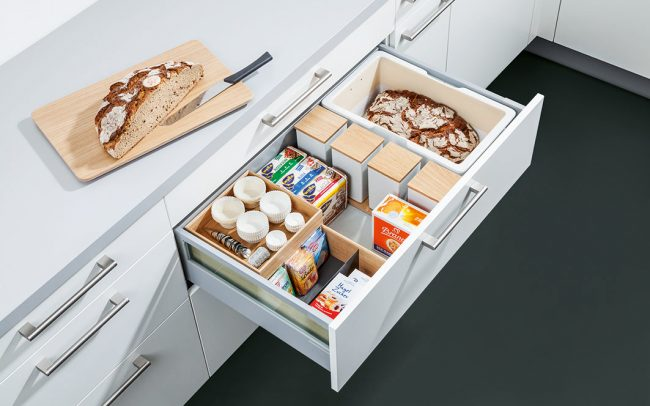 Schuller German Kitchens Cardiff - Bread Crock & Flex Boxes