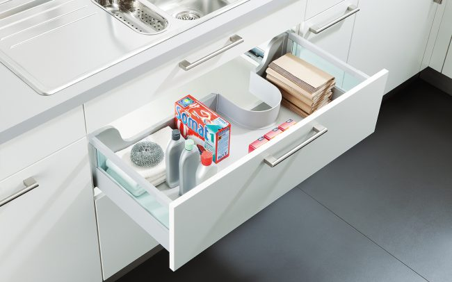 Schuller German Kitchens Cardiff - Under Sink Drawer