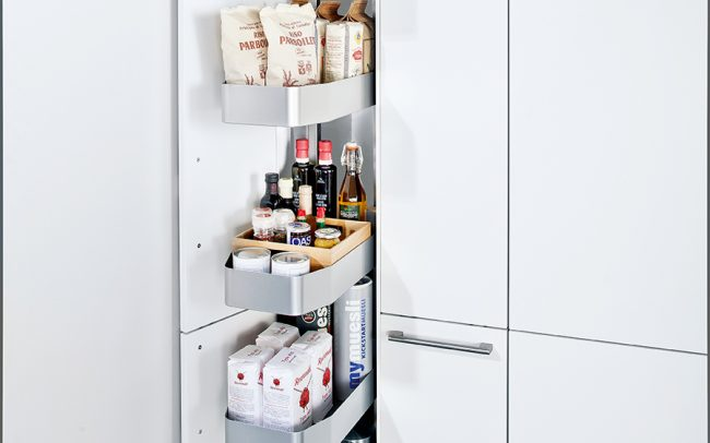 Schuller German Kitchens - Storage Solutions - Pull Out Storage - pull out larder unit 2