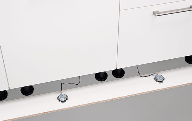 Schuller Kitchen Cardiff - Plinth Speaker System
