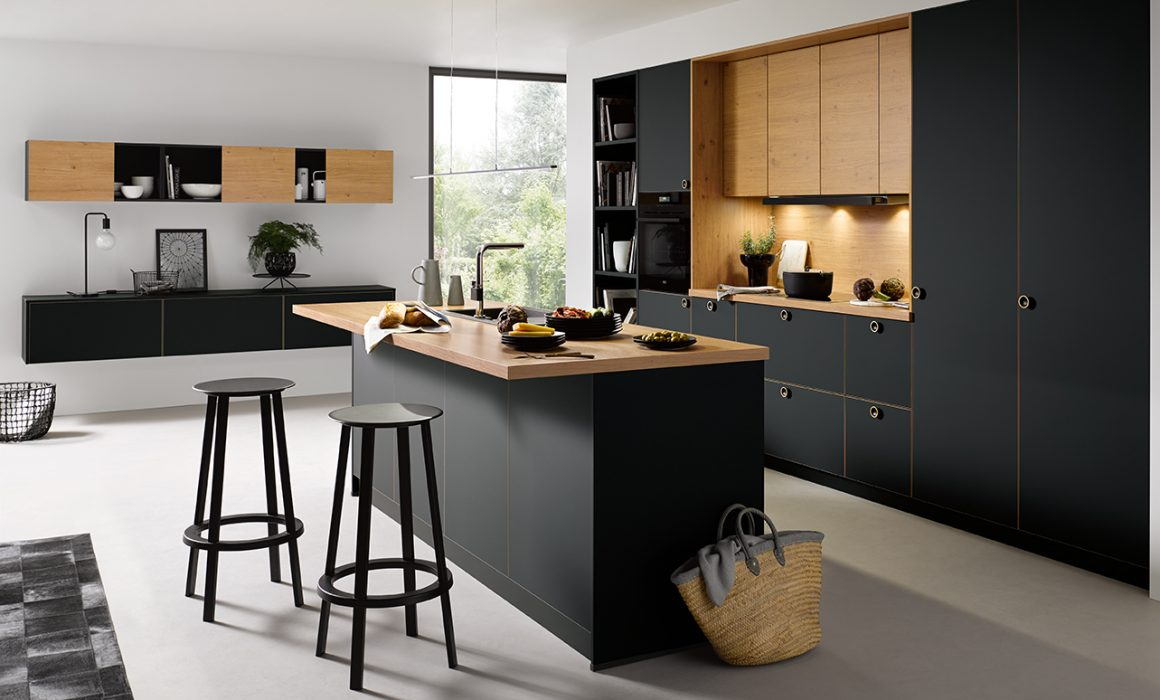 strato matt kitchen black kitchens cardiff schuller german kitchens