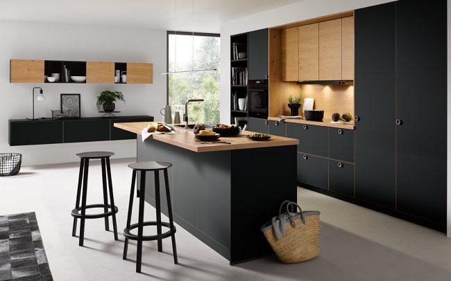 strato matt kitchen black kitchens cardiff schuller german kitchens