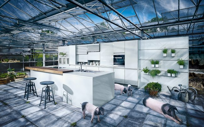 Next 125 NX310 high gloss kitchen cardiff luxury kitchen cabinets