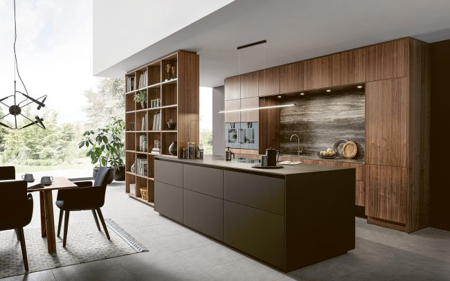 German Kitchens Design Studio Cardiff - Next 125 - NX240 Fenix Mocha Brown