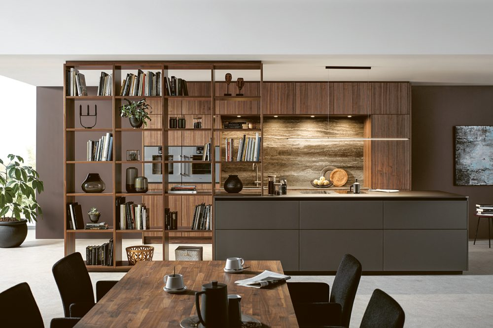 Mocha Brown Kitchens by Schüller Next 125 in Cardiff - Fenix Door 4
