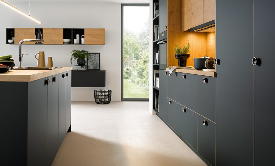strato matt kitchen cardiff schuller black kitchens