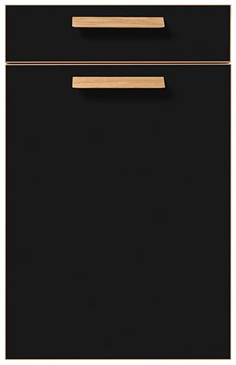 strato matt range onyx black schuller by artisan cardiff kitchens