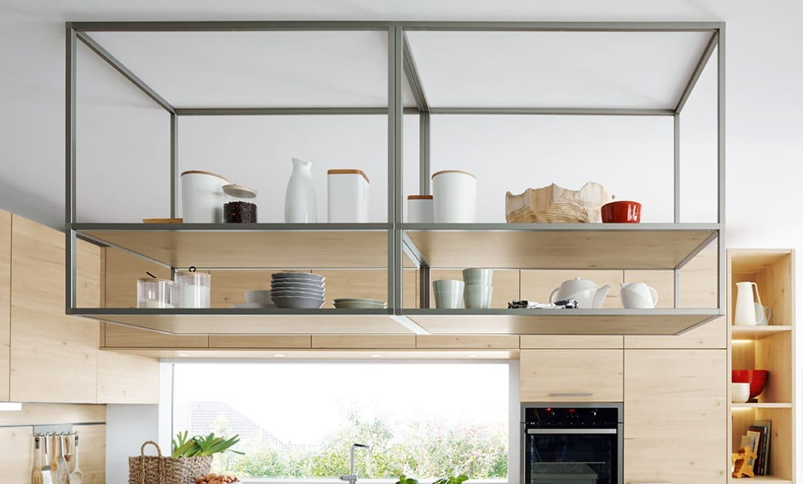 open shelving german kitchens cardiff