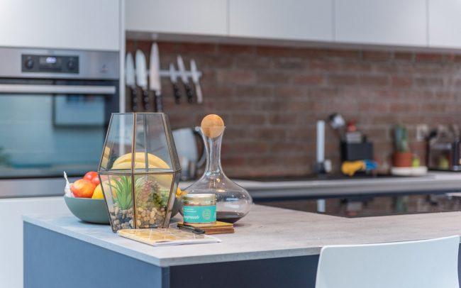 Schuller Biella Matt White - Indigo Blue Kitchen Project in Penarth - 02