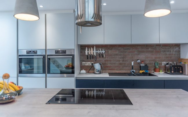 Schuller Biella Matt White - Indigo Blue Kitchen Project in Penarth - 01