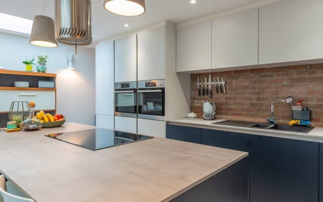 Schuller Biella Matt White - Indigo Blue Kitchen Project in Penarth - 08