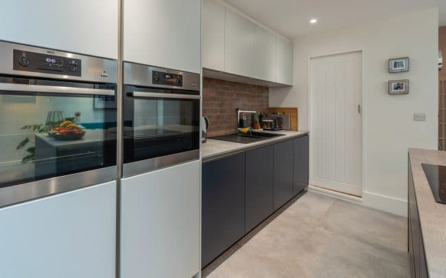 Schuller Biella Matt White - Indigo Blue Kitchen Project in Penarth - 06