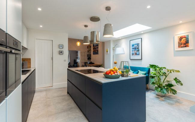 Schuller Biella Matt White - Indigo Blue Kitchen Project in Penarth - 05