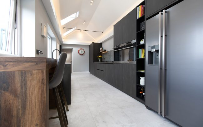 Schuller Targa Steel Kitchen Project in Old St Mellons - 02